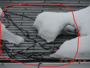 Cable chauffant pour toitute